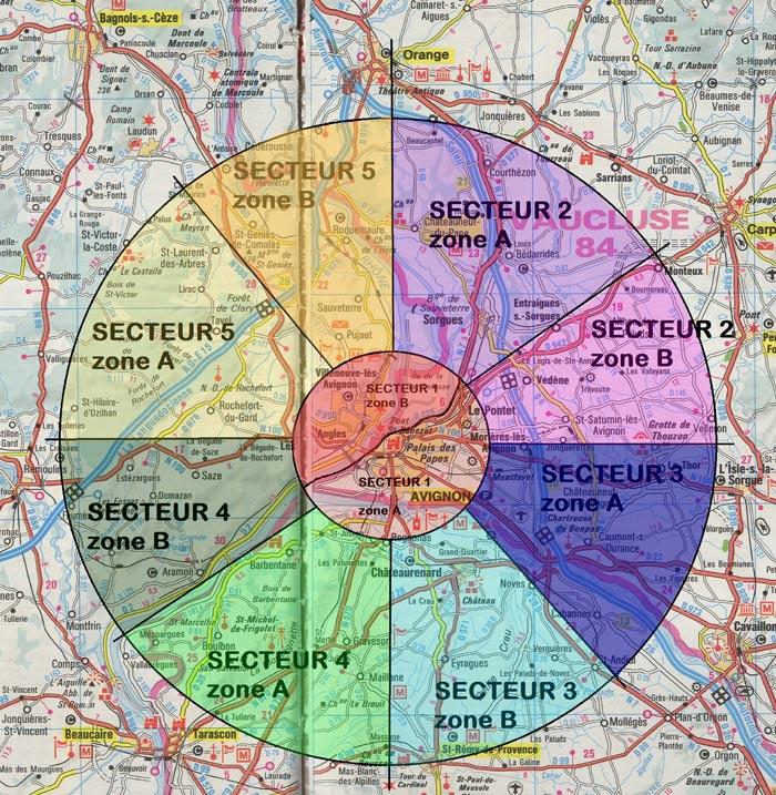 carte des secteurs desservis par Sources de Vie