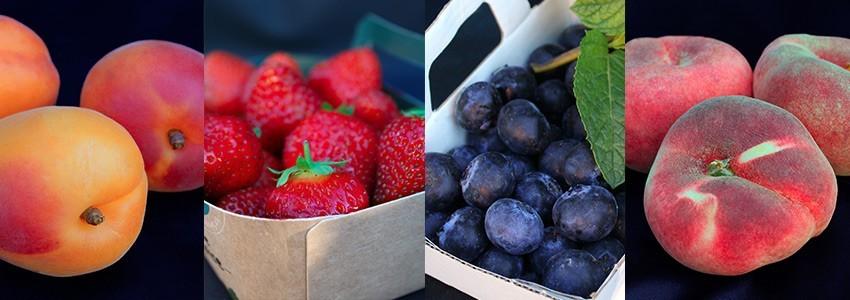 fruits des producteurs locaux et fruits exotiques